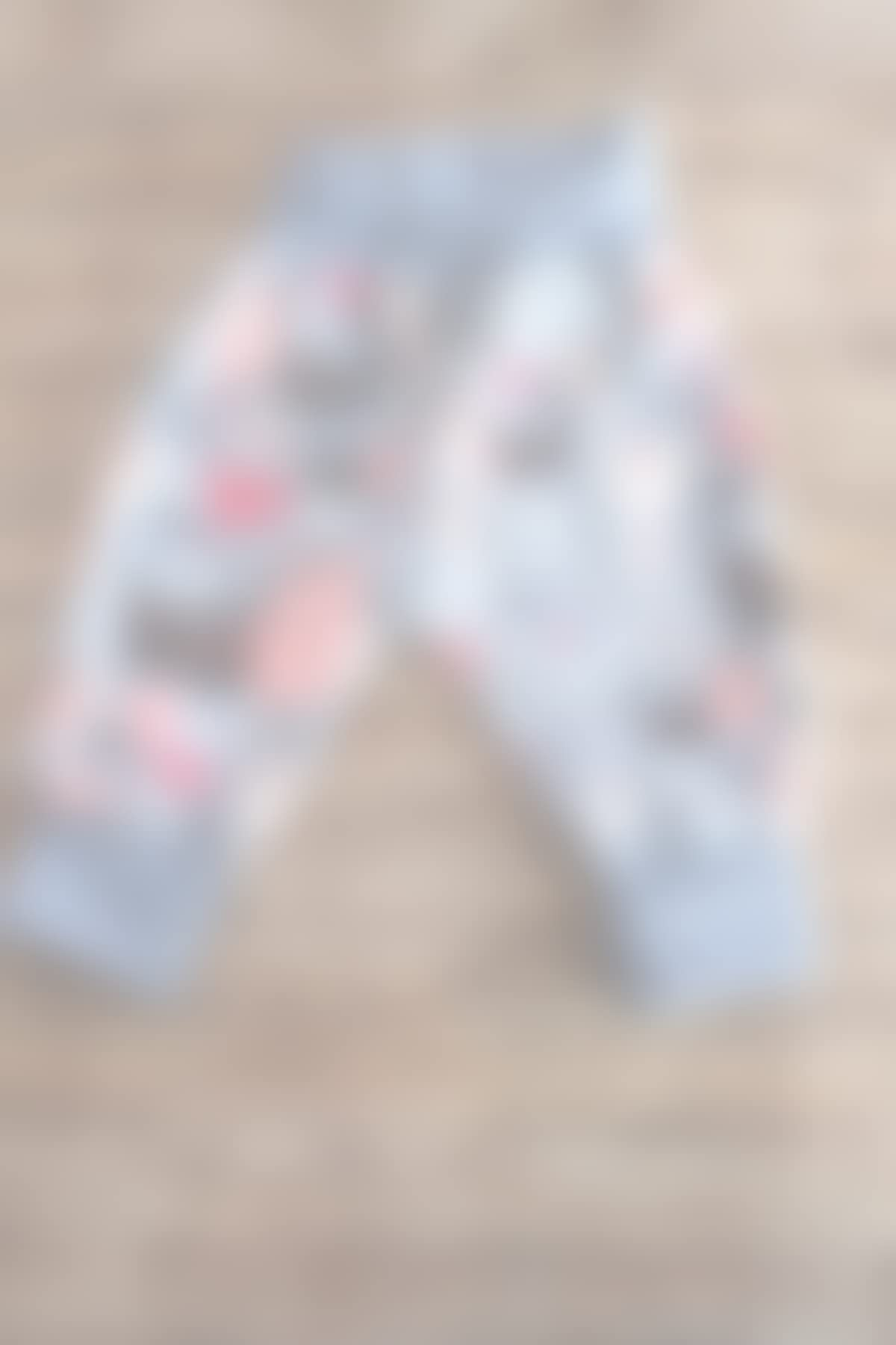 Baby Pumphose Schlupfhose newborn Gr 56-68 Katzen rosa-grau