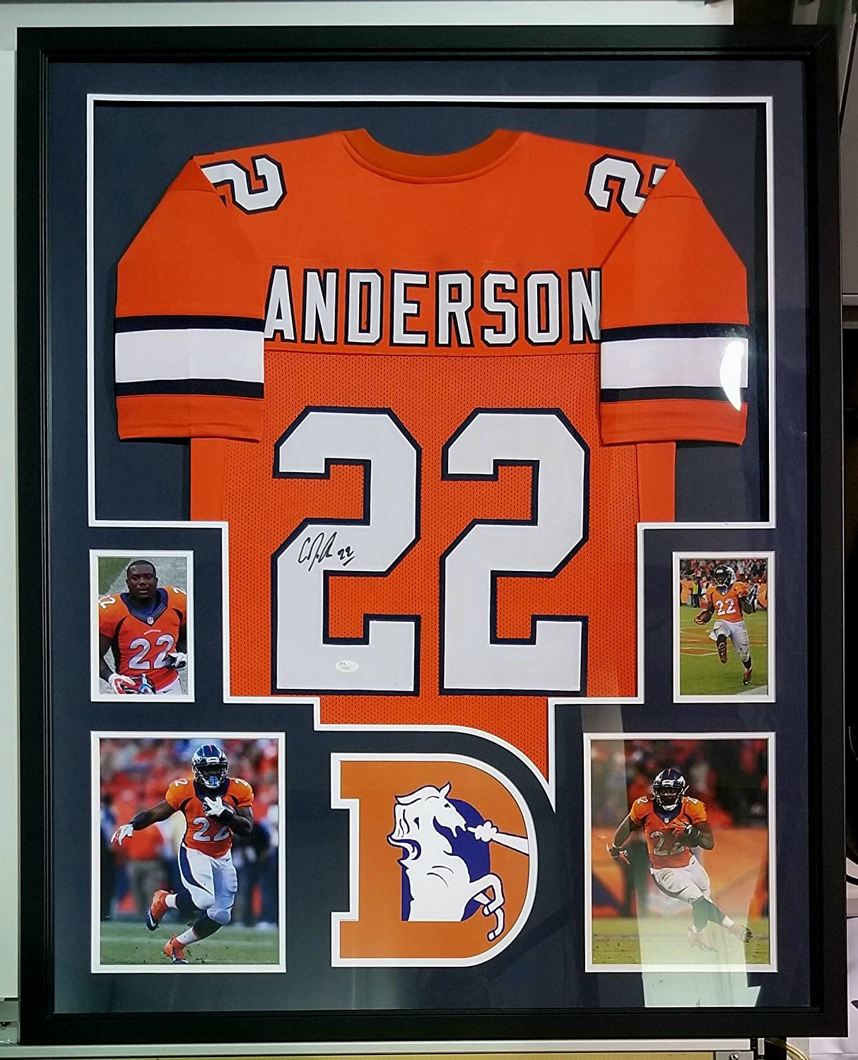 1251641daf008 Amazon.com: CJ Anderson Signed Autographed Framed Jersey Denver ...