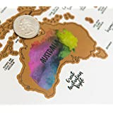 Amazon scratch off world map deluxe personalized travel map jetsettermaps its a beautiful world scratch your travelstm world map 30x20in gumiabroncs Choice Image
