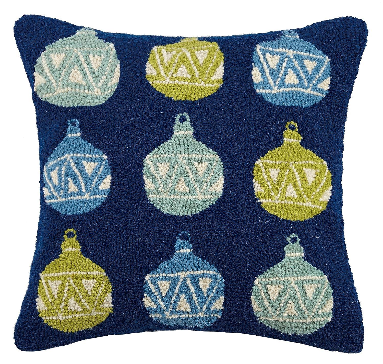 Peking Handicraft Ornaments Hook Wool Throw Pillow, Multicolored
