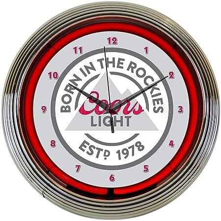 Neonetics COORS Light Beer Born in The Rockies NEON Clock