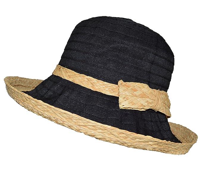 a2714f8feb1 Woven Straw Ribbon Crusher Sun Hat