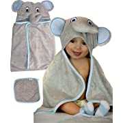 Hooded Baby Towel and Washcloth set | 100% organic Bamboo Towel | Bamboo washcloth | Toalla para Bebe | My Royal baby