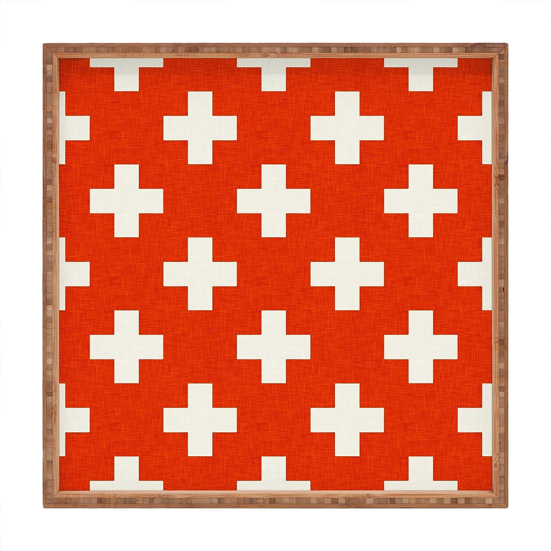 Deny Designs Holli Zollinger Vermillion Plus Square Tray