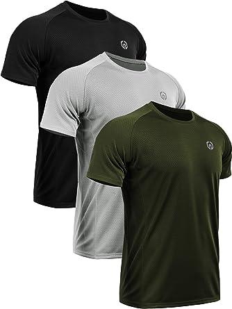 Neleus Men's Dry Fit Mesh Athletic Shirts