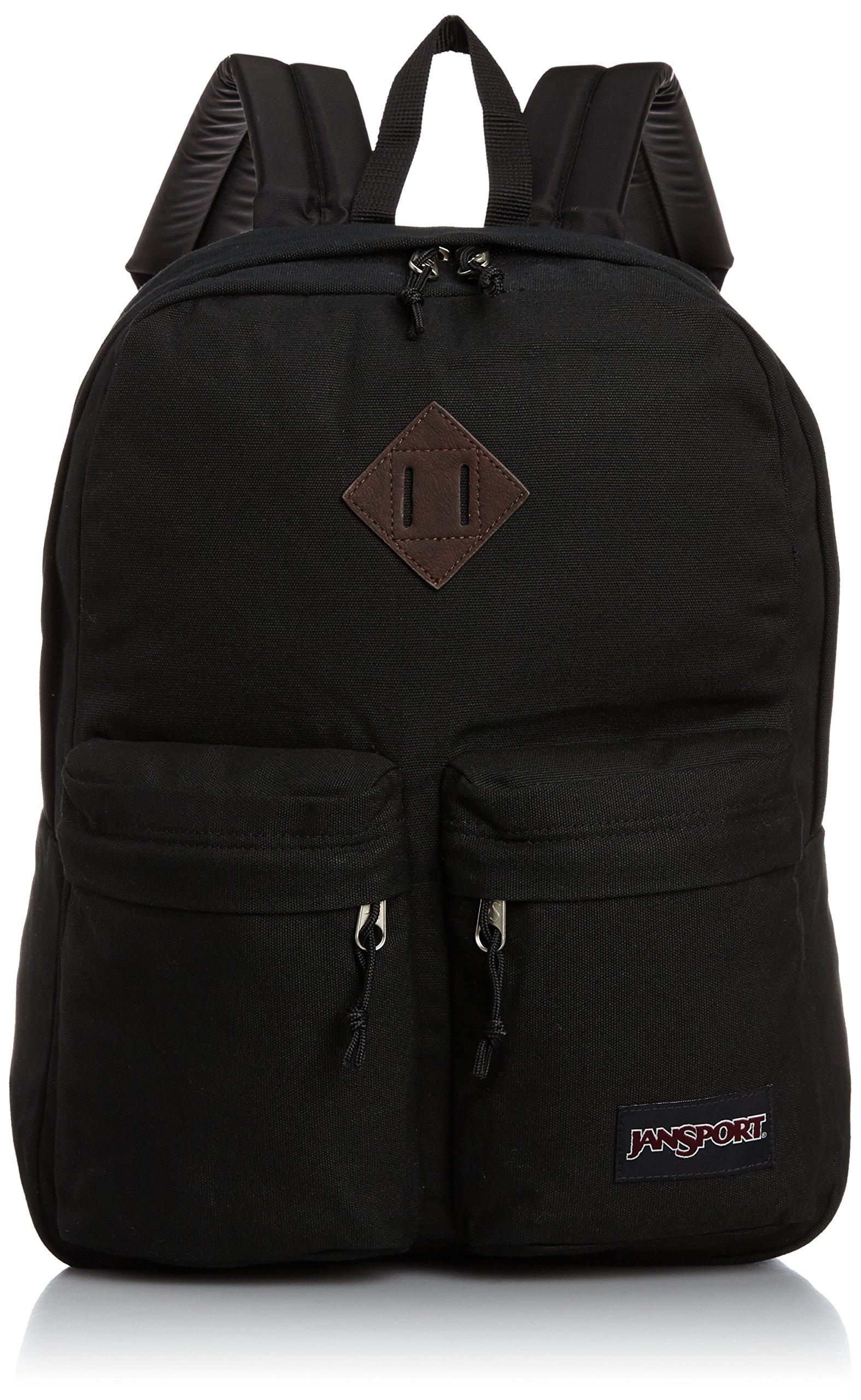 JanSport Hoffman Backpack - Black - 16.7''H x 13''W x 7''D