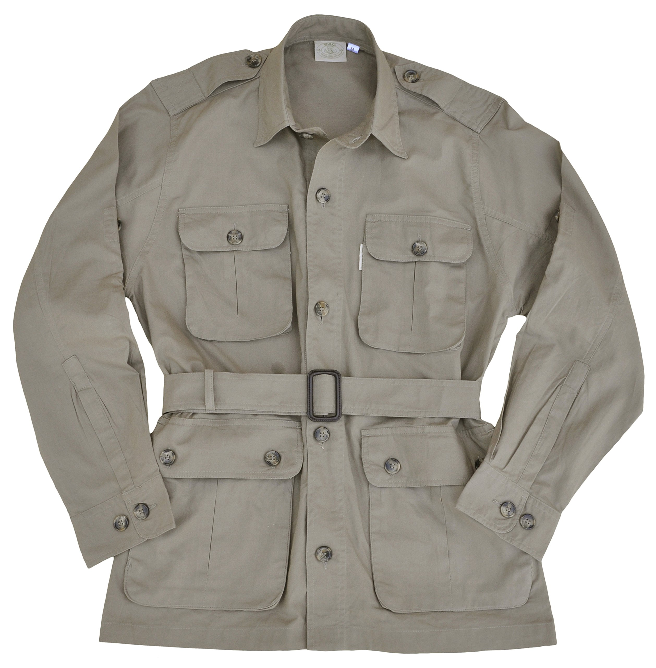 Safari Jacket for Men-Khaki-X Large by Tag Safari