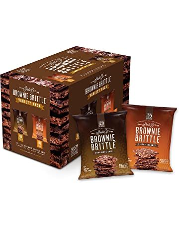 Brownie Brittle, Salted Caramel & Chocolate Chip Variety Pack, 1 Oz Bag (Pack