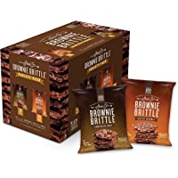 Brownie Brittle, Salted Caramel & Chocolate Chip Variety Pack, 1 Oz Bag (Pack of 20), The Unbelievably Delicious Chocolate Brownie Snack with Cookie Crunch