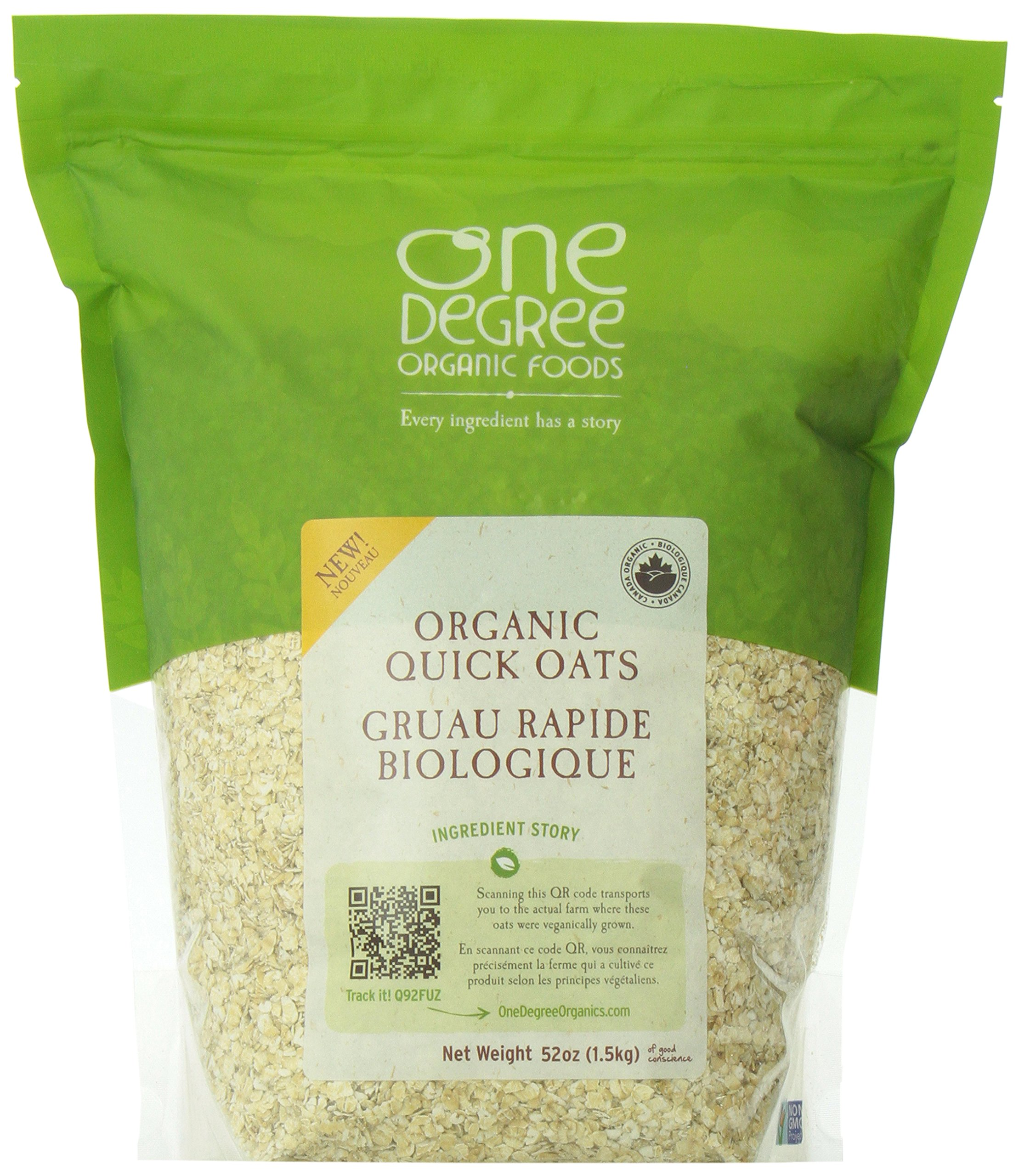 One Degree Organic Foods Organic Quick Oats, 48 Ounce