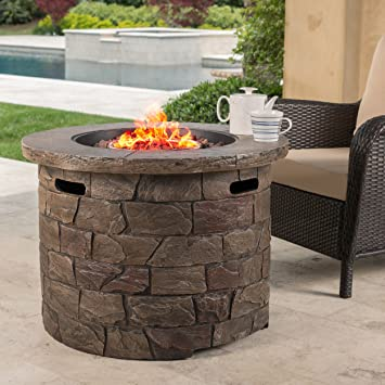 Stonecrest Patio Furniture ~ Outdoor Propane (Gas) Fire Pit 40,000BTU  (Table)