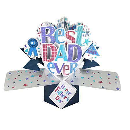 Best Dad Happy Fathers Day Pop Up Greeting Card Second Nature 3D Cards