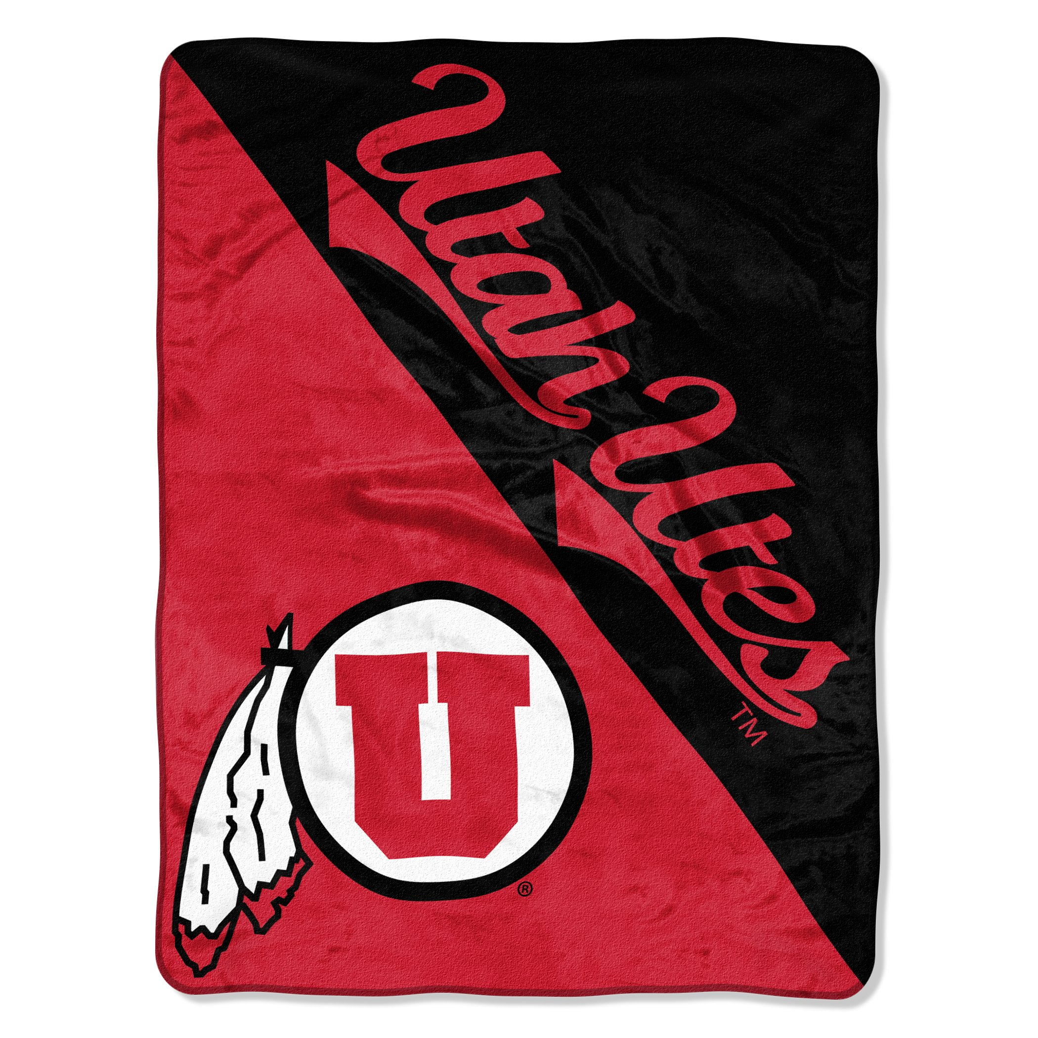 The Northwest Company Officially Licensed NCAA Utah Utes Halftone Micro Raschel Throw Blanket, 46'' x 60'', Multi Color by The Northwest Company