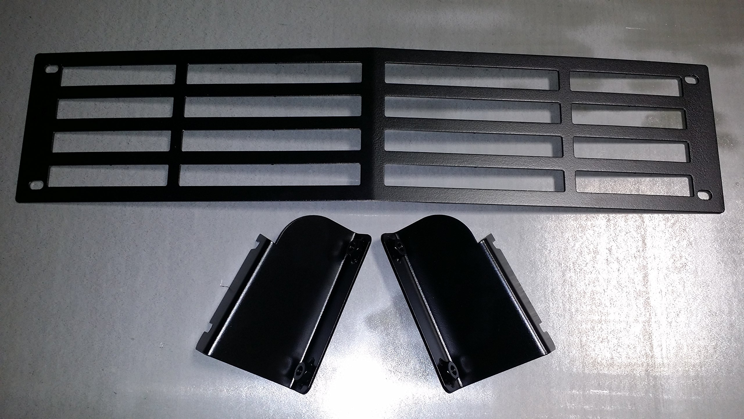 Mountains2Metal 2015-2019 Chevy Silverado 2500 3500 HD Stainless Steel Powder Coated Black Bumper Grille Insert