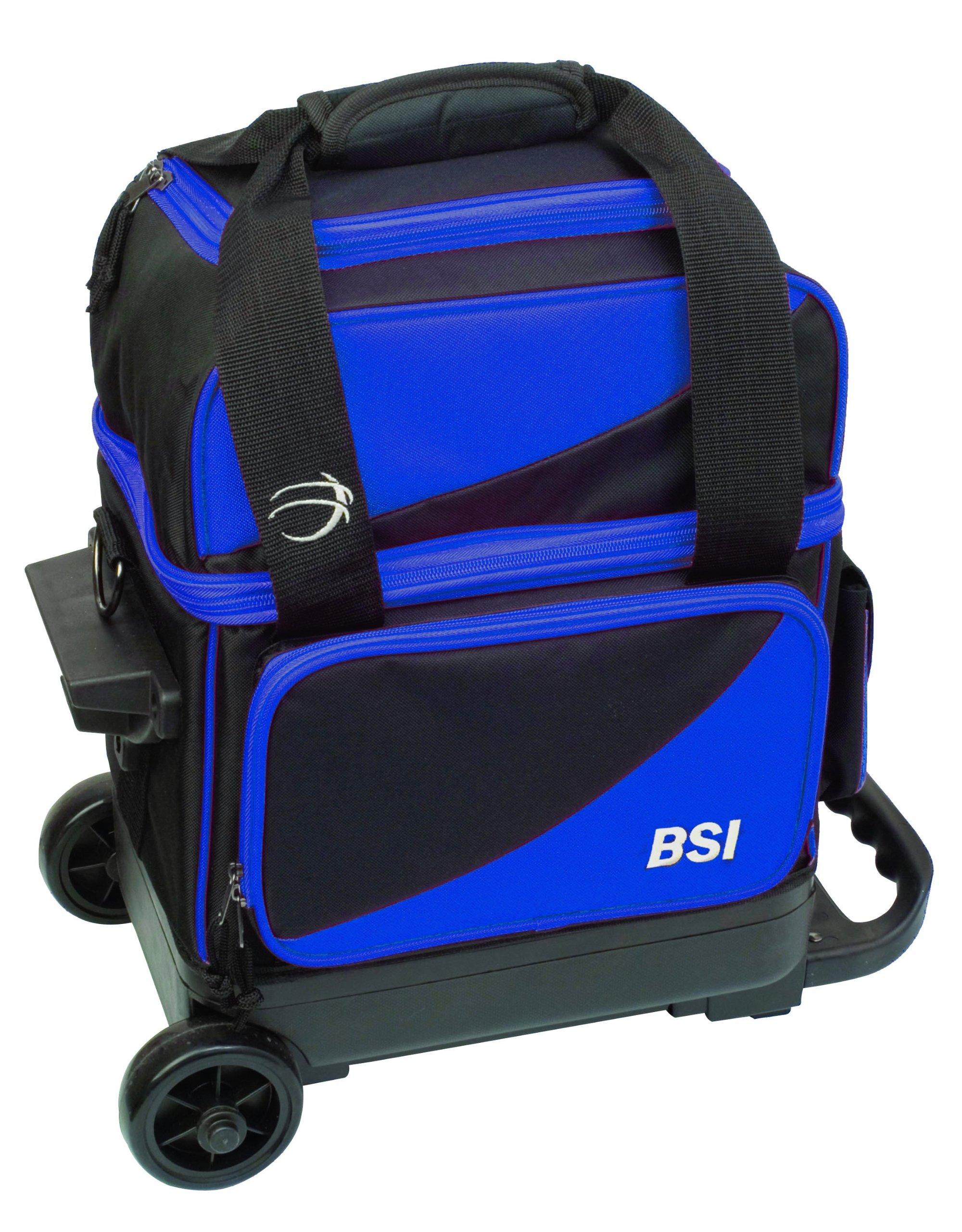 BSI Single Ball Roller Bowling Bag, Black/Blue