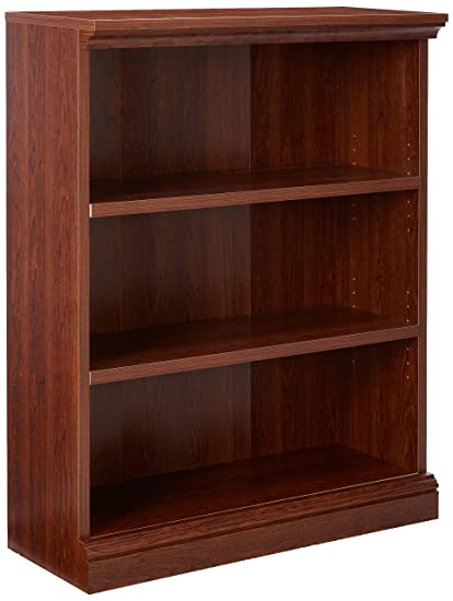Sauder Camden County 3 Shelf Bookcase Planked Cherry Finish