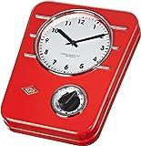 Wesco 322 401-02 Horloge de cuisine Rouge