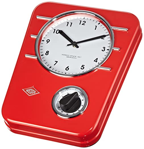 Wesco Classic Line Kitchen Clock   Red