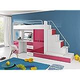 newjoy hochbett treppe inkl schubladen treppe f r hochbetten k che haushalt. Black Bedroom Furniture Sets. Home Design Ideas