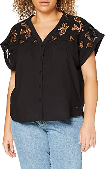 Pepe Jeans Black Blusa para Mujer: Amazon.es: Ropa y accesorios