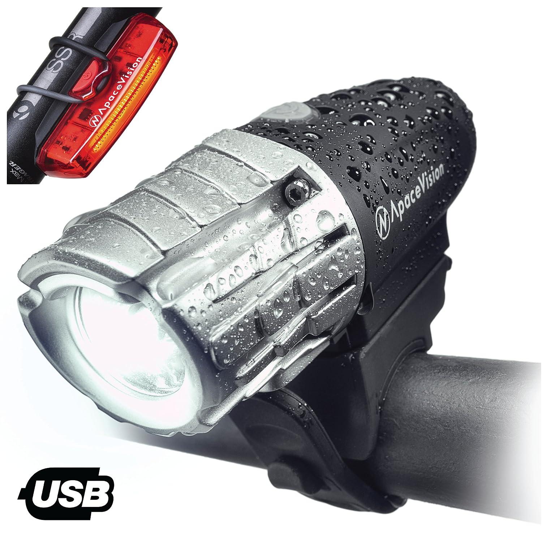 Amazon USB Rechargeable Bike Light Set Super Bright