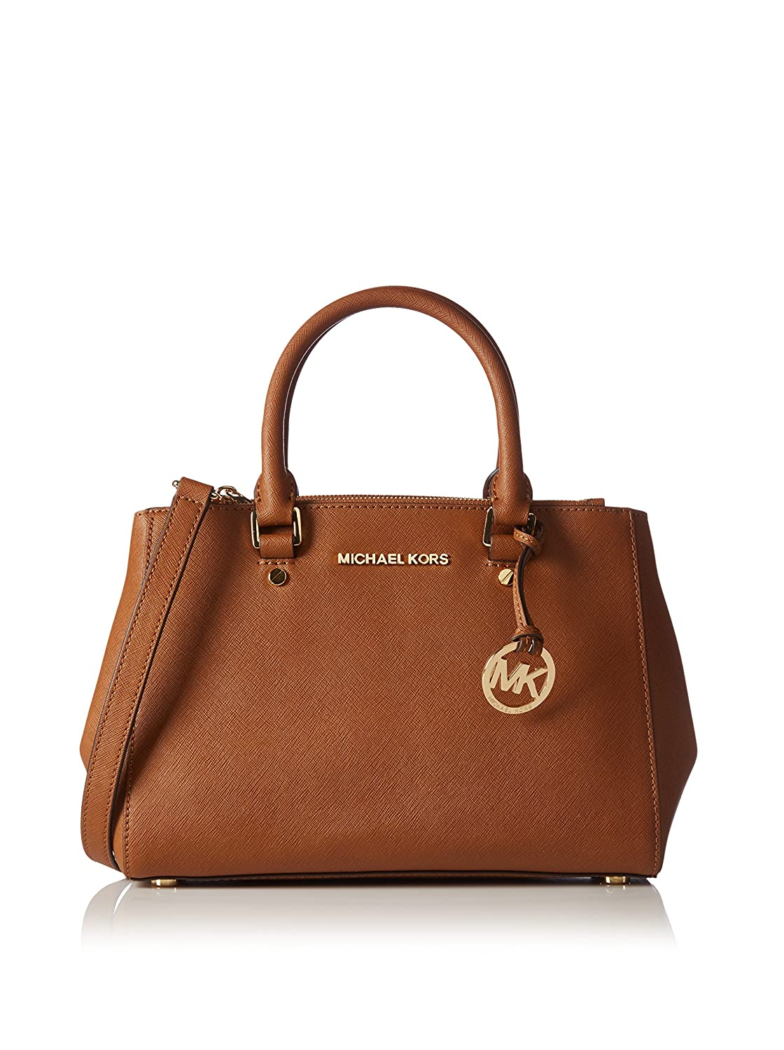 643039670a7b Amazon.com  Michael Kors Sutton Small Saffiano Leather Satchel in Luggage   Shoes