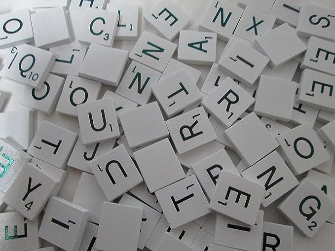 18mm x 20mm Wedding Scrapbook Complete 100 Pcs Set 100 Pcs Wooden Scramble Scrabble Letters Tiles Cinnamon Brown Color Tile