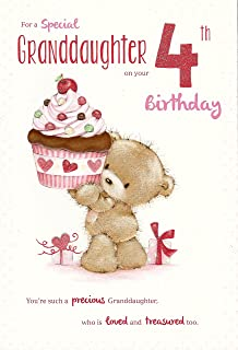 For A Special Granddaughter On Your 4th Birthday Card