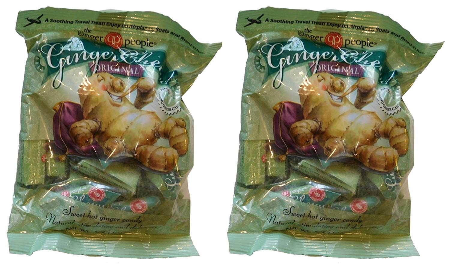 The Ginger People Original Ginger Chews, 5 oz (Pack of 2) Gluten Free