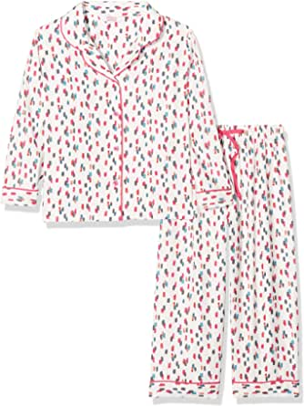 Cyberjammies 4252 Women's Lola Pink Mix Check Cotton Nightshirt