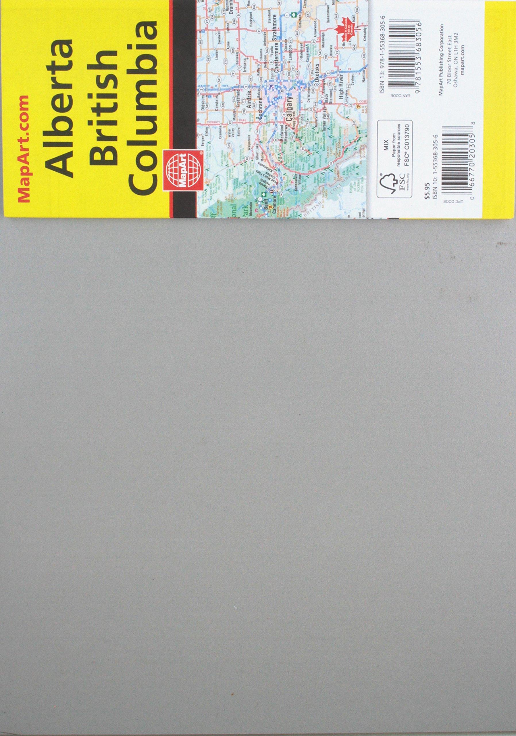 Rand McNally British Columbia/Alberta, Canada Road Map: Canadian ...