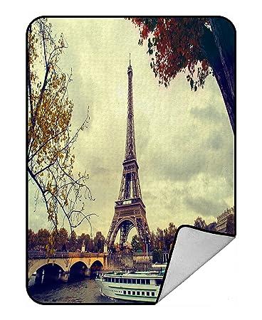 Amazoncom Handstomeb Custom Paris Eiffel Tower Blanket Paris