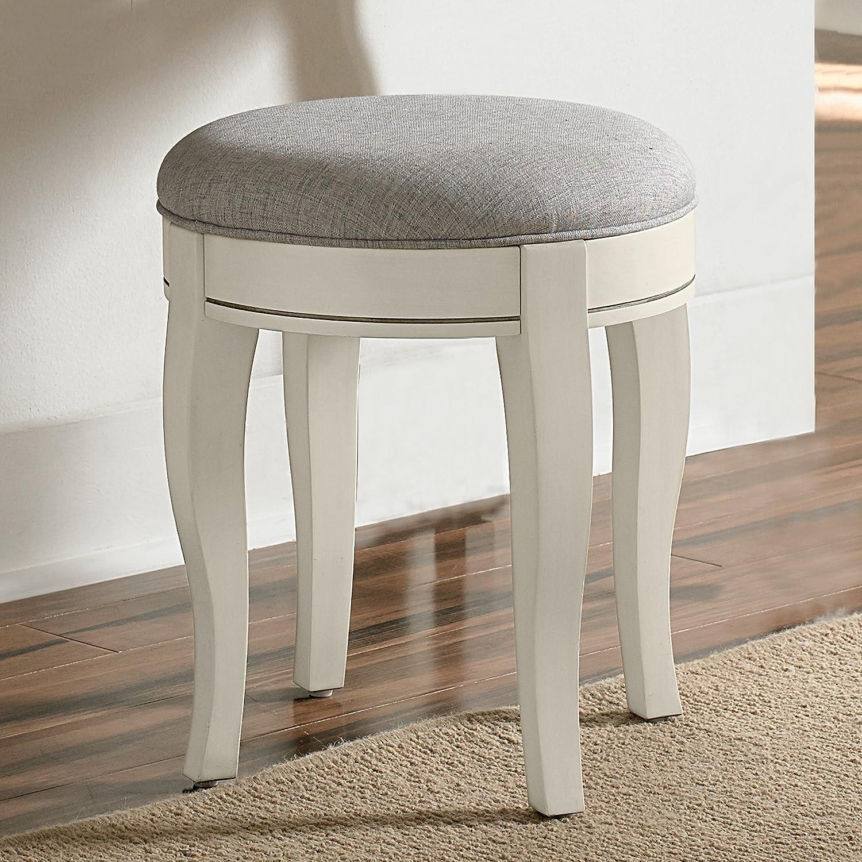 Hillsdale Furniture NE Kids Kensington Vanity Stool, Antique White,