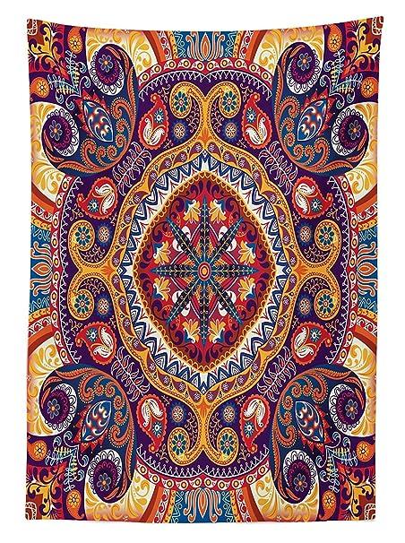 vipsung Paisley decoración Mantel árabe Ornamentales Alfombra ...