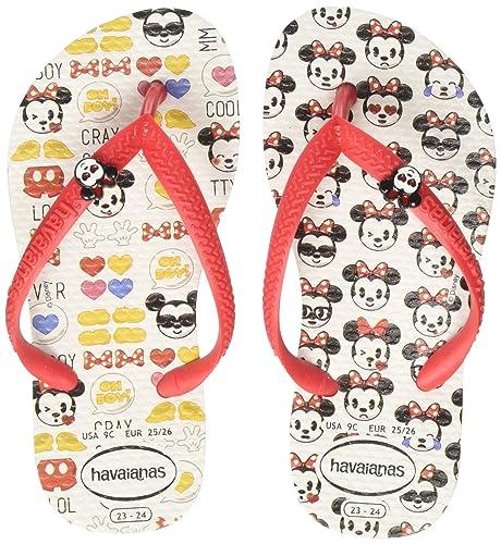 13c372f1514 Havaianas Imprimee Tongs Garçon Fille Disney Cool White Ruby Red-EU  29