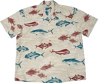 product image for Paradise Found Waimea Casuals Mens Deep Sea Shirt Beige 2X