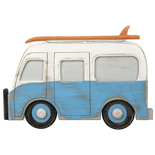 Primitives by Kathy Wall Art Camper Van with Surf Board