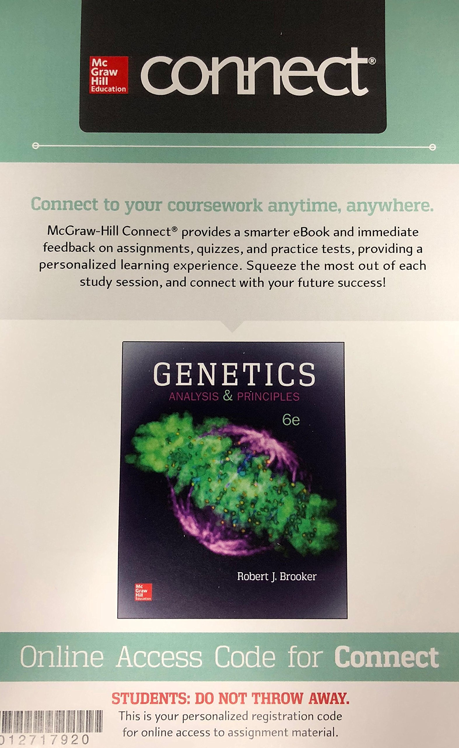 Connect Access Card for Genetics: Analysis and Principles: Robert Brooker:  9781260041057: Amazon.com: Books