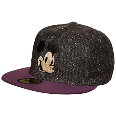 New Era Character Tweed Mickey Mouse 59fifty 5950 Fitted Cap Basecap Kappe  Men Grey dd5ba39dc20
