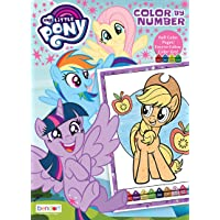 Bendon My Little Pony 48-Page Color by Number Coloring Book with Full-Color Border Guide