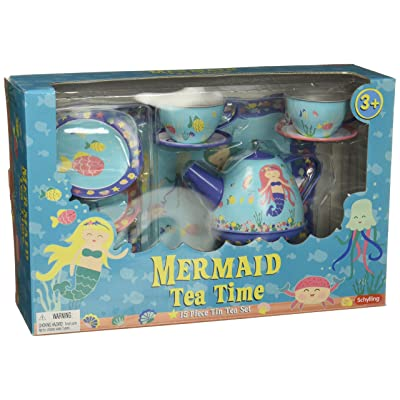 Schylling Mermaid Tin Tea Set: Toys & Games