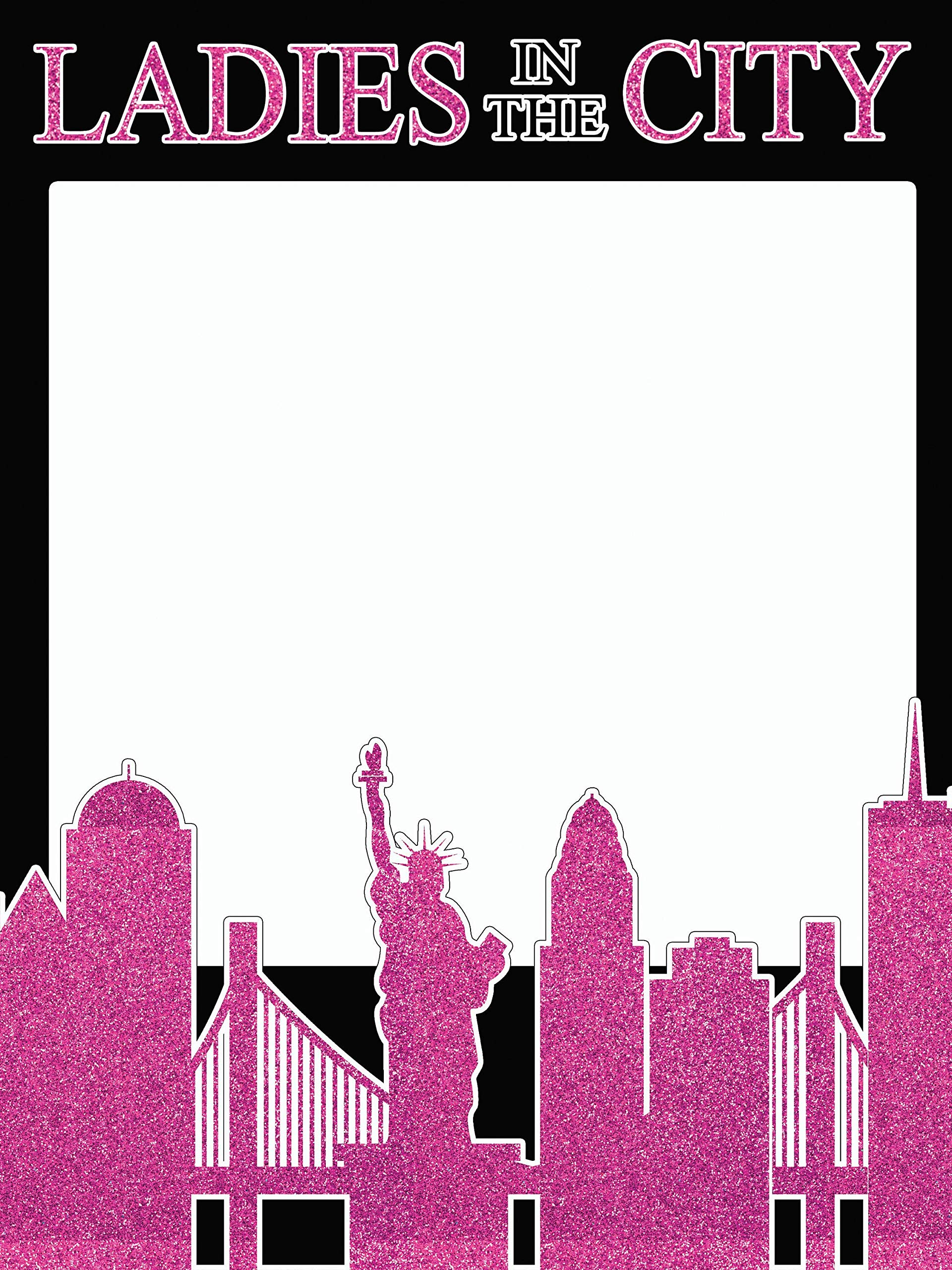 speedy orders Bachelorette Photo Booth Prop Size 36x24, Ladies in The City, New York Party Decorations, Photo Props, Selfie Frame, Party Supply Photo Booth Props