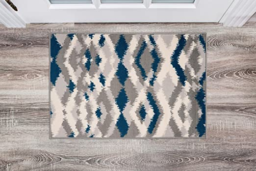 Amazon Com Rugshop Sky Collection Distressed Modern Geometric
