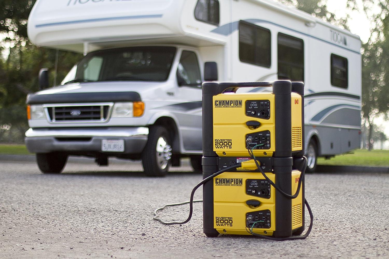 Amazon Com Champion  Watt Stackable Portable Inverter Generator Vehicle Power Inverters Garden Outdoor