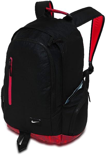 Nike - Mochila All Access Fullfare, BA4855, negro / rojo, talla única