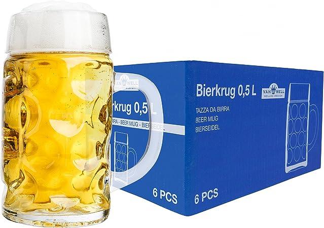 6er Set Bierglas Willibecher 0,5l geeicht Biergläser Glas Gastronomie Gläser