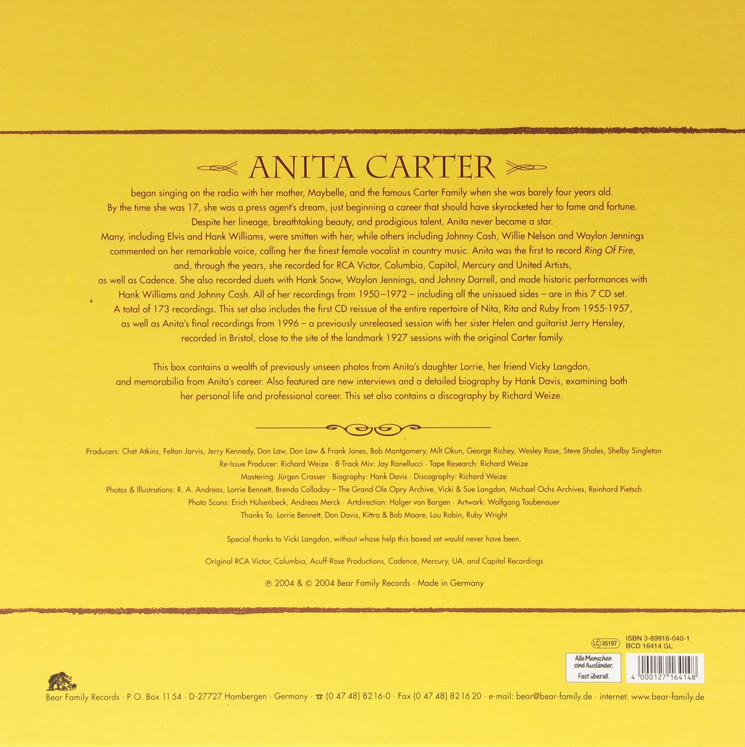 Appalachian Angel: Her Recordings 1950-1972 & 1996 by Carter, Anita