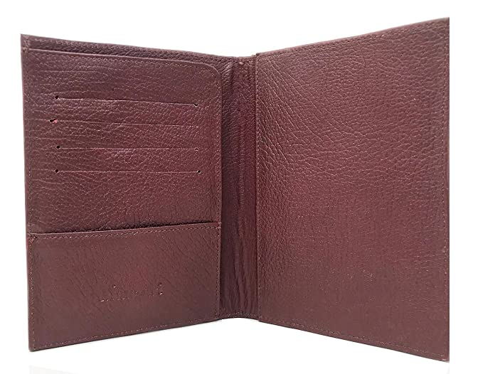 81eecfd4691d Mauzari Passport Holder for Women Hand Tooled Leather Designer Vintage  (Mahogany)
