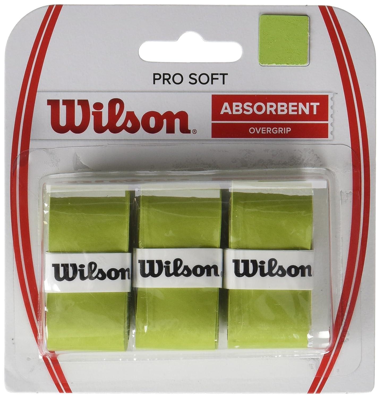 Wilson Griffbänder Pro Soft Overgrip 3 Pack - Mango de raqueta de tenis (pack de 3), color verde lima: Amazon.es: Deportes y aire libre