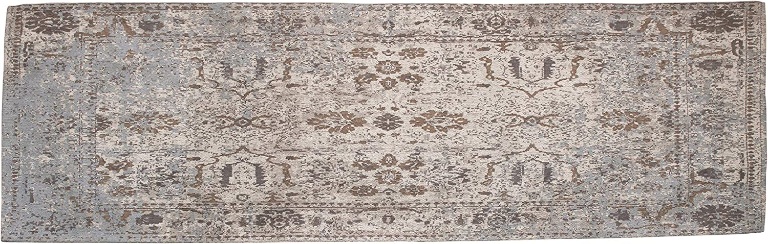 Creative Co-op Distressed Finish Woven Cotton Printed Runner, Multi